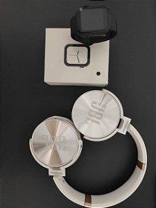 KIT Iwo8 Lite Preto + fone JBL Bluetooth Branco