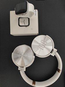 KIT Iwo 8 Lite Branco + fone JBL Bluetooth