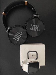 KIT Iwo 8 Lite Branco + Fone JBL Bluetooth Preto