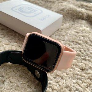 Smartwatch D20 Rosa - Coloca foto na tela