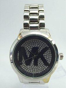 Relógio feminino Michael Kors Prata com Fundo Preto