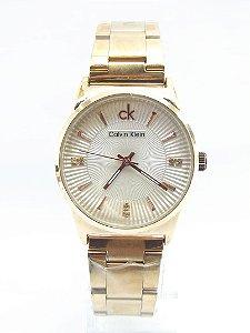 Calvin Klein Dourado e Branco