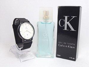 Kit Calvin Klein - Relogio + ´Perfume