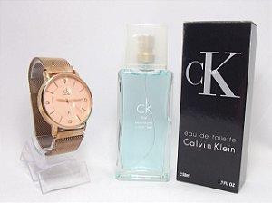 Kit Calvin Klein - Relogio + Perfume