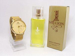 Kit Armani - Relogio + Perfume