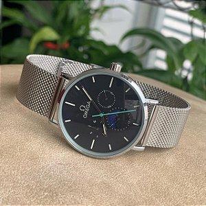 Relógio Ômega Prata e Preto