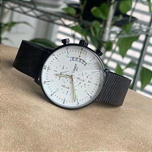 Relógio Tissot Preto e Branco