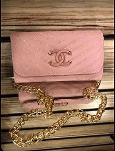 Bolsa chanel N° 4 Rosa