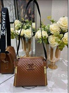 Bolsa Chanel N° 8 Marrom