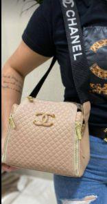Bolsa Chanel N° 8 Rosa