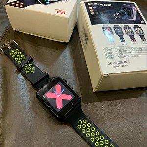Smartwatch C5 Preto - Ligação com Chip