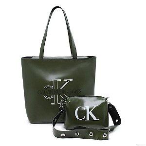 Bolsa Ck grande + bolsa pequena de BRINDE - Verde