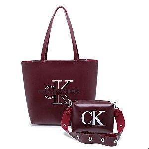 Bolsa Ck grande + bolsa pequena de BRINDE - Vinho