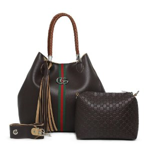 Bolsa Gucci grande + bolsa pequena de BRINDE – Marrom Escura