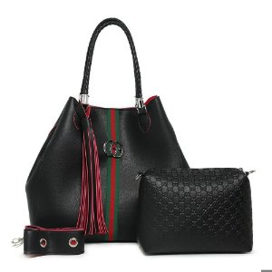 Bolsa Gucci grande + bolsa pequena de BRINDE – Preta e rosa