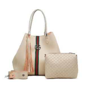 Bolsa Gucci grande + bolsa pequena de BRINDE – Bege