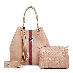 Bolsa Gucci grande + bolsa pequena de BRINDE – Rose