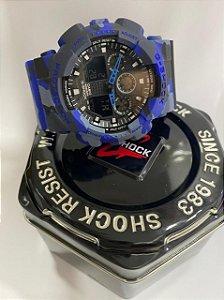 G-shock Automático Camuflado Azul + vedação a prova d'água grátis