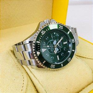 Rolex Submariner Caveira - Prata e Verde