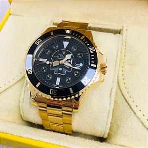 Rolex Submariner Caveira - Dourado e Preto