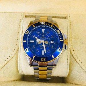 Rolex Submariner Caveira - Prata, Dourado e Azul