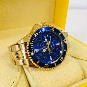 Rolex Submariner Caveira - Dourado e Azul