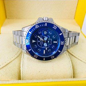 Rolex Submariner Caveira - Prata e Azul
