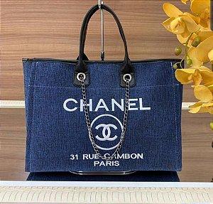 Bolsa Chanel Tecido - Azul Jeans