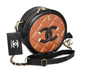Bolsa Chanel Bolinha - Preto-Caramelo