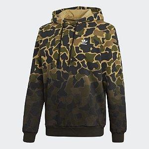 Blusa Moletom Adidas com Capuz Camuflado