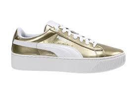 Tenis Puma Vikky PlatForm Metalic Gold 20cb67d71b64d