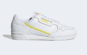 Tenis Continental 80 W Branco com Amarelo