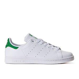 Tênis Adidas Stan Smith J Branco Verde