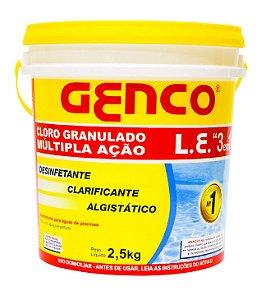 Cloro Granulado Genco L.E. Múltipla Ação 3em1 - 2,5Kg