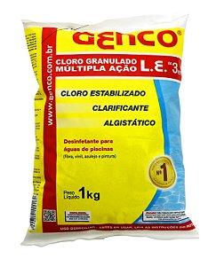 Cloro Granulado Genco L.E. Múltipla Ação 3em1 - 1kg