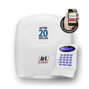 Central de Alarme Monitorada com até 22 Zonas Active 20 Ethernet JFL