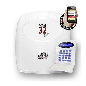 Central de Alarme Monitorada sem Fio com até 32 Zonas Active 32 Duo JFL