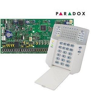 Placa Central de Alarme 8 Zonas Expansíveis até 32 Zonas Spectra SP6000 Com Teclado K32 Led Paradox