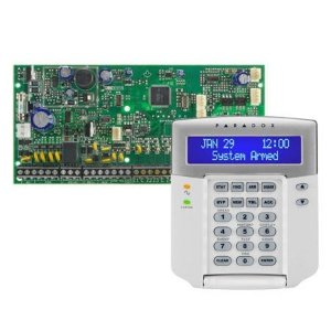 Placa Central de Alarme 8 Zonas Expansíveis até 32 Zonas Spectra SP6000 Com Teclado K32 LCD Paradox