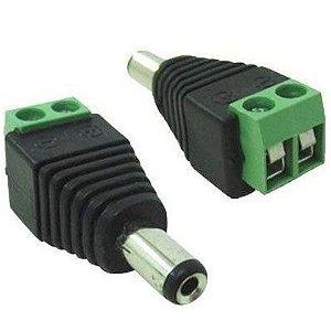 Conector P4 Macho (borne) para CFTV - Embalagem com 10 unidades
