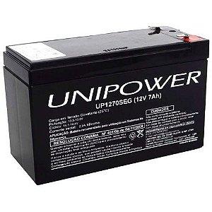Bateria para No-Breaks e Alarme 12 Volts 7 Ampêres Unipower