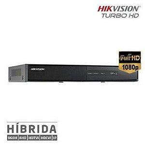 DVR Full HD 1080p 2MP Turbo 5x1 (HDTVI, HDCVI, AHD, Analógico, e IP) Hikvision
