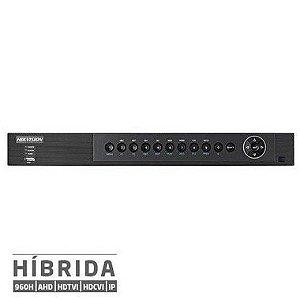 DVR Full HD 1536p 3MP Turbo 5x1 (HDTVI, HDCVI, AHD, Analógico, e IP)  Canais HIKVISION