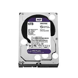 Hd Interno 6tb 6000gb Western Digital Purple Sataiii 64mb Wd60purx