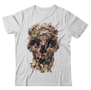 Camiseta Caveira Fauna e Flora