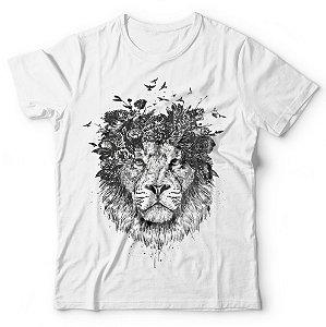 Camiseta Leão Coroa de Flores