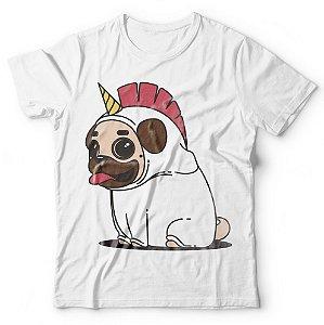Camiseta Pug Unicórnio
