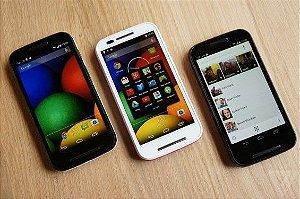 Motorola Moto E - Dual chip, Desbloqueado, Android 4.4  (PRETO)