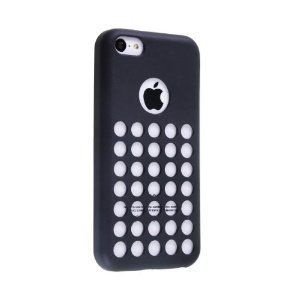 iPhone 5C Capa, borracha, flexsivel ( preto )