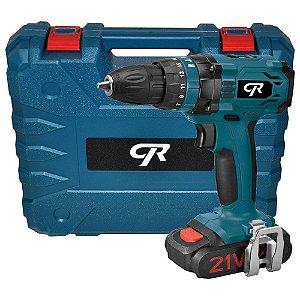 Parafusadeira Furadeira de Impacto Industrial 20V com Maleta, 2 Baterias Lition 12V e Carregador Bivolt - CR DO BRASIL